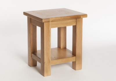 York oak lamp table