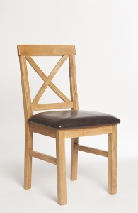 York oak padded chair