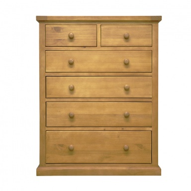 Country pine 2 over 4 chest