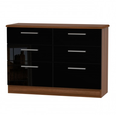 Knightsbridge 6 drawer midi chest