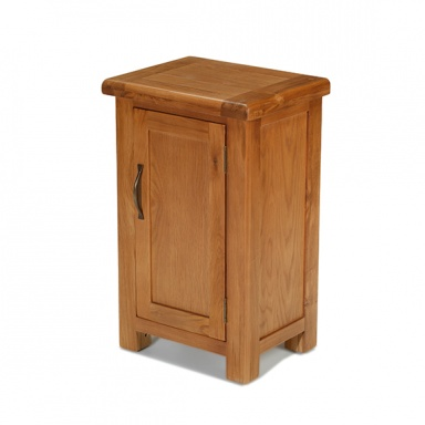 Farmhouse oak one door cabinet