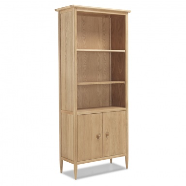 Scandi oak large bookcase