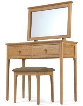 Shaker oak dressing table set