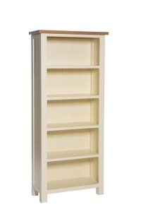 York ivory tall bookcase