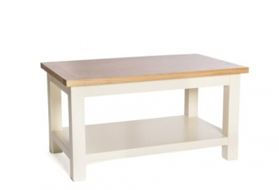 York ivory coffee table