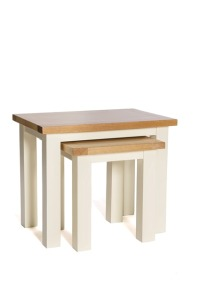 York ivory nest of tables
