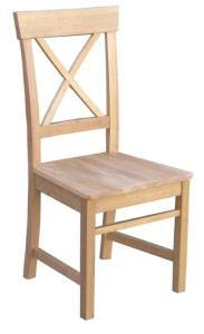 Eva solid seat dining chair