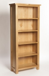York oak tall bookcase
