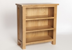 York oak low bookcase