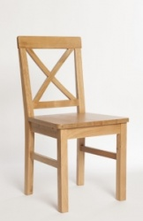 York oak solid seat chair