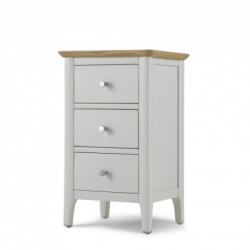 Shaker painted 3 drawer bedside