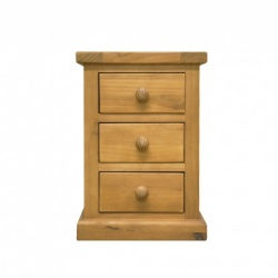 Country pine small bedside