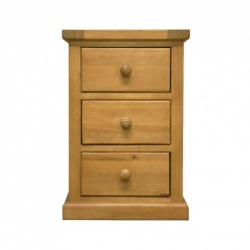 Country pine large bedside