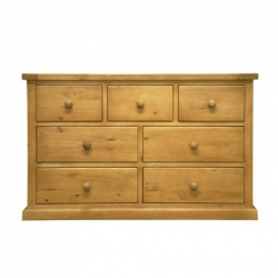 Country pine 3 over 4 chest