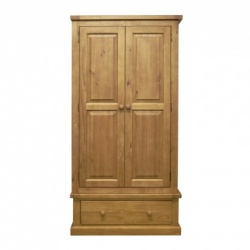 Country pine 2 door + 1 drawer robe