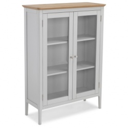Shaker painted glazed cabinet