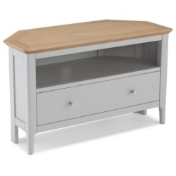 Shaker painted corner TV unit + drawer