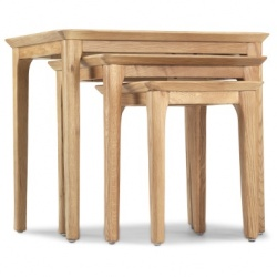 Shaker oak nest of tables