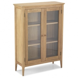 Shaker oak glazed cabinet