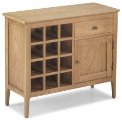 Shaker oak wine rack sideboard