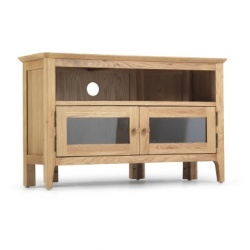 Shaker oak corner TV unit + door