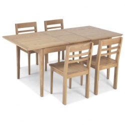Shaker oak extending dining table sets