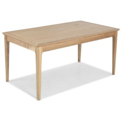 Shaker oak fixed dining table