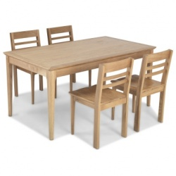 Shaker oak fixed dining table sets