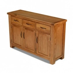 Farmhouse oak large sideboard 3 door 3 drawer