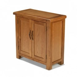 Farmhouse oak small petite cupboard
