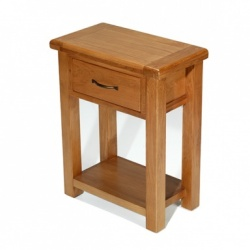 Farmhouse oak small hall table