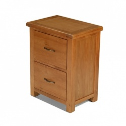 Farmhouse oak office filing cabinet
