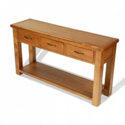 Farmhouse oak large console table