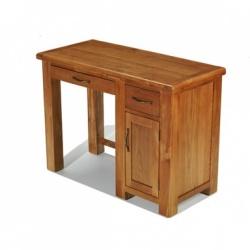 Farmhouse oak single computer desk