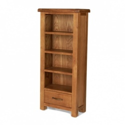 Farmhouse oak CD/DVD cabinet
