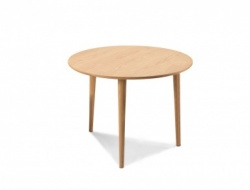 Scandi oak circular dining table