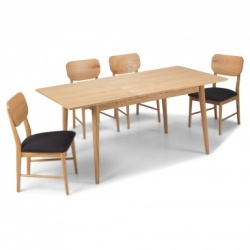 Scandi oak extending dining table sets