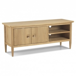 Scandi oak large TV unit
