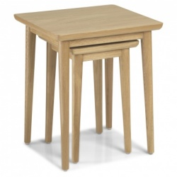 Scandi oak nest of tables