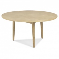 Scandi oak circular coffee table