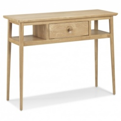 Scandi oak console table