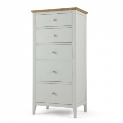 Shaker painted 5 drawer tall chest