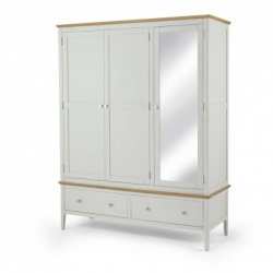 Shaker painted triple robe with mirror