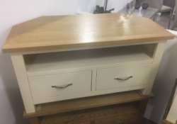 York ivory corner TV unit