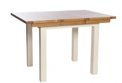 York ivory 80cm extending table