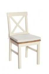 York ivory solid seat chair (pad optional)