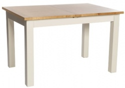 York ivory 120cm extending table