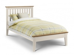 Shaker ivory and oak bedframe
