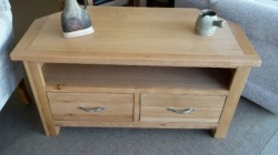 York oak corner TV unit