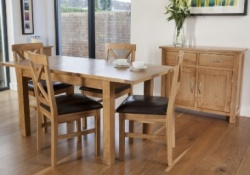 York oak dining set